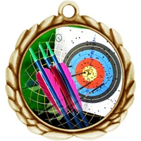 "2-1/2"" Wreath Color Insert Archery Medal O32A-FCL-404"