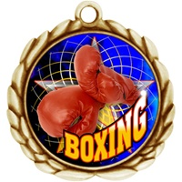 "2-1/2"" Wreath Color Insert Boxing Medal O32A-FCL-430"