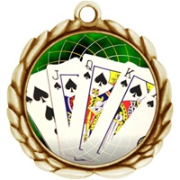 "2-1/2"" Wreath Color Insert Poker Medal O32A-FCL-432"