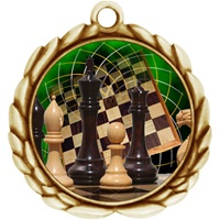 "2-1/2"" Wreath Color Insert Chess Medal O32A-FCL-440"