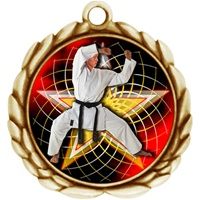 "2-1/2"" Wreath Color Insert Martial Arts Medal O32A-FCL-502"