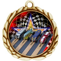 "2-1/2"" Wreath Color Insert Pinewood Derby Medal O32A-FCL-522"