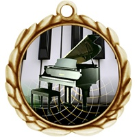 "2-1/2"" Wreath Color Insert Piano Medal O32A-FCL-524"