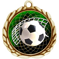 "2-1/2"" Wreath Color Insert Soccer Medal O32A-FCL-542"