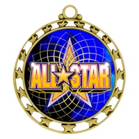 "2-1/2"" Superstar Color Insert All Star Medal O34A-FCL-402"