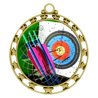 "2-1/2"" Superstar Color Insert Archery Medal O34A-FCL-404"