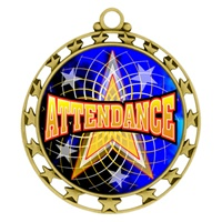 "2-1/2"" Superstar Color Insert Attendance Medal O34A-FCL-406"