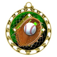 "2-1/2"" Superstar Color Insert Baseball Medal O34A-FCL-408"