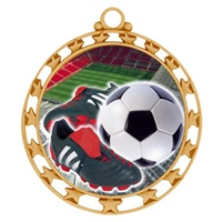 "2-1/2"" Superstar Color Insert Soccer Cleat Medal O34A-FCL-41"
