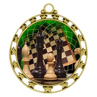 "2-1/2"" Superstar Color Insert Chess Medal O34A-FCL-440"