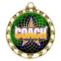 "2-1/2"" Superstar Color Insert Coach Medal O34A-FCL-442"