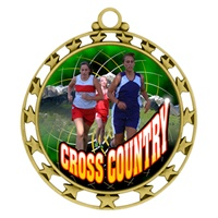 "2-1/2"" Superstar Color Insert Female X-Country Medal O34A-FCL-445"