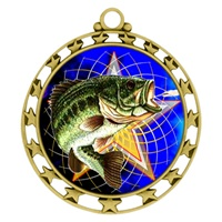 "2-1/2"" Superstar Color Insert Fishing Medal O34A-FCL-470"