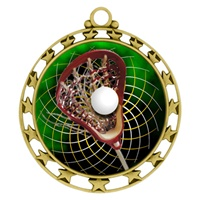 "2-1/2"" Superstar Color Insert Lacrosse Medal O34A-FCL-504"