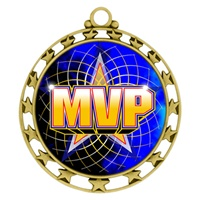"2-1/2"" Superstar Color Insert MVP Medal O34A-FCL-518"
