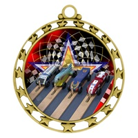 "2-1/2"" Superstar Color Insert Pinewood Derby Medal O34A-FCL-522"