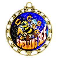 "2-1/2"" Superstar Color Insert Spelling Bee Medal O34A-FCL-554"