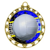 "2-1/2"" Superstar Color Insert Volleyball Medal O34A-FCL-572"