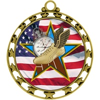 "2-1/2"" Superstar Flag Track Medal O34A-FCL-732"