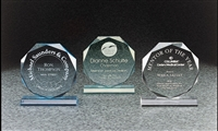 "6"" Beveled Octagon Acrylic Award"