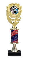 "12"" Flag Pedestal Wreath SUN Racing Trophy"
