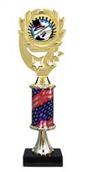 "12"" Flag Pedestal Wreath SUN Tap Dance Trophy"
