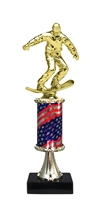 Pedestal Round Flag Column Snow Boarder Trophy