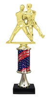 Pedestal Round Flag Column Female Judo Trophy