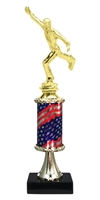 Pedestal Round Flag Column Male Ice Skating Trophy