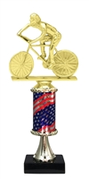 Pedestal Round Flag Column Male Cycling Trophy