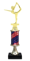 Pedestal Round Flag Column Female Gymnastics Trophy