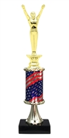 Pedestal Round Flag Column Male Gymnastics Trophy