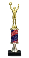 Pedestal Round Flag Column Male Victory Trophy