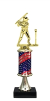 Pedestal Round Flag Column Boys T-Ball Trophy