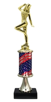 Pedestal Round Flag Column Tap Dance Trophy