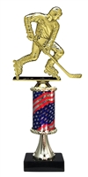 Pedestal Round Flag Column Street Hockey Trophy