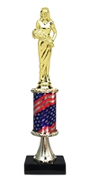 Pedestal Round Flag Column Beauty Queen Trophy