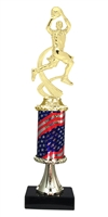 Pedestal Round Flag Column Male Basketball Trophy