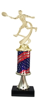 Pedestal Round Flag Column Male Tennis Trophy