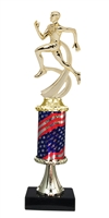 Pedestal Round Flag Column Male Track Trophy