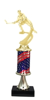 Pedestal Round Flag Column Female Hockey Trophy