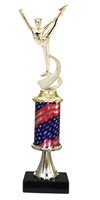 Pedestal Round Flag Column Dance Trophy