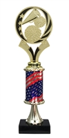 "12"" Flag Column Cheerleading Trophy"