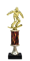 "11""+ Flame Column w/Pedestal Snow Boarder Trophy"