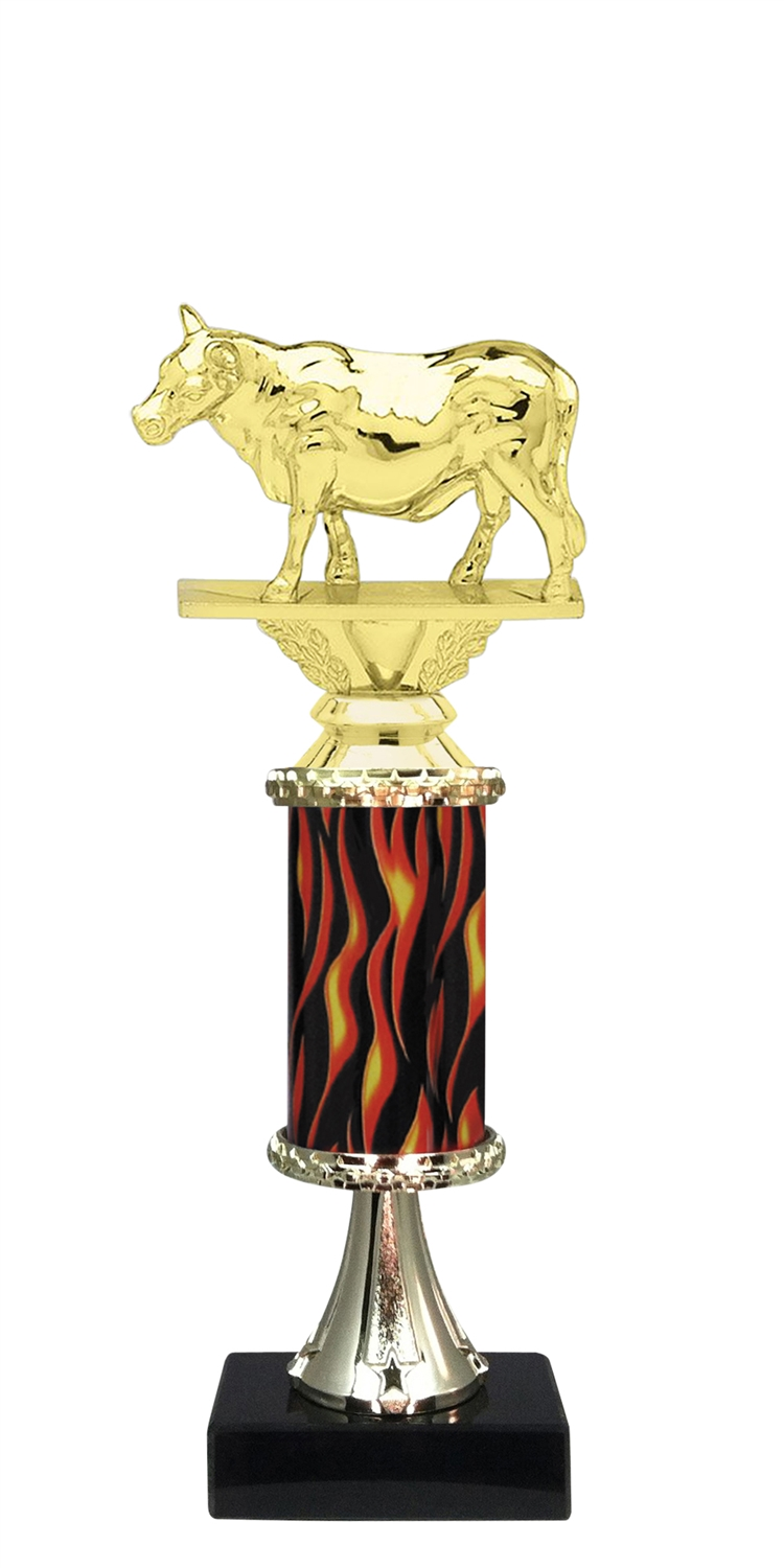 Steer Trophy on Marble Base