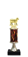 Sheep Trophy on Marble Base