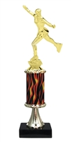 "11""+ Flame Column w/Pedestal Female Ice Skating Trophy"