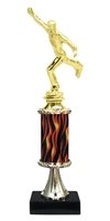 "11""+ Flame Column w/Pedestal Male Ice Skating Trophy"