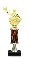 "11""+ Flame Column w/Pedestal Waterpolo Trophy"