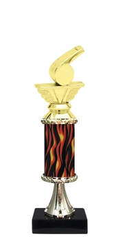 "11""+ Flame Column w/Pedestal Coach Trophy"